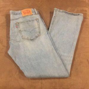 Men's Levi's 527 Jeans 34 34x32 Stretch Bootcut